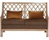 @home Miraya Two Seater Sofa In Brown Colour