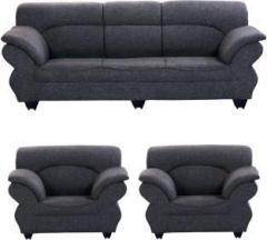 Astonishing Bharat Lifestyle 107 Fabric 3 1 1 Dark Grey Sofa Set Machost Co Dining Chair Design Ideas Machostcouk