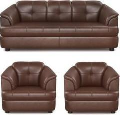 Astonishing Bharat Lifestyle Gayana Leatherette 3 1 1 Brown Sofa Set Cjindustries Chair Design For Home Cjindustriesco