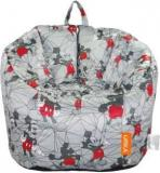Disney XL Mickey Mouse Digital Printed Kids Bean Bag Sofa With Bean Filling