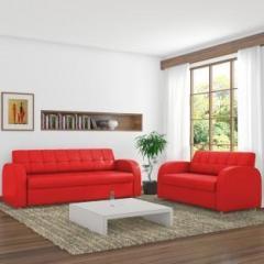 Dolphin Atlanta Leatherette 3 2 Red Sofa Set Price In India