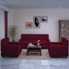 Dolphin Solitaire Fabric 3 1 Maroon Sofa Set Price In
