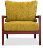 Durian Malaca Armchair In Beryl Green & Rosewood Colour