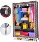 Elegant Shopping Made In India 4.1 Feet Portable Triple Door Storage Almirah Stainless Steel Collapsible Wardrobe