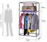 Everything Imported Carbon Steel Collapsible Wardrobe