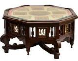 ExclusiveLane Teak Wood Coffee & Centre Table In Walnut Finish