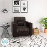 Flipkart Perfect Homes Crete Leatherette And Fabric 1 Seater Sofa