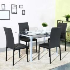 f82f10f08f Flipkart Perfect Homes Luzon Glass 4 Seater Dining Set price in ...