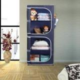 Flipkart Smartbuy 2 Door 4 Shelf PP Collapsible Wardrobe