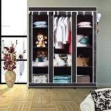 Flipkart Smartbuy 3 Door 10 Shelf PP Collapsible Wardrobe