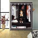 Flipkart Smartbuy 3 Door 8 Shelf PP Collapsible Wardrobe