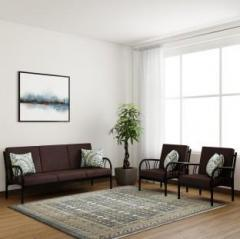 7400d789308 Furniturekraft Florence Fabric 3 + 1 + 1 Brown Sofa Set price in India May  2019 - See
