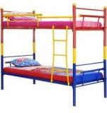 FurnitureKraft Tri Colour Bunk Bed