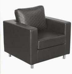 Godrej Interio Carbo 1s Sofa S1n Lt Black Plu Leatherette 1 Seater