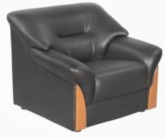 Godrej Interio Parto Plus 1st In S1n Lth Blak Leatherette 1 Seater