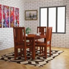 10b4dbc43107 Home Edge Weave Sheesham Solid Wood 4 Seater Dining Set price in ...