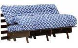 Hometown Abby Futon Double Bed Blue