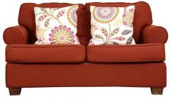 Hometown Charlotte Fabric Two Seater Sofa In Rust Colour Price In
