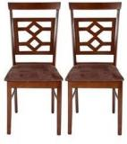 HomeTown Eva Dining Chair Set Of 2 In Brown Colour