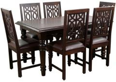Hometown Iris Solidwood Six Seater Dining Table