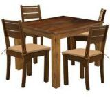 HomeTown Java Solid Wood Four Seater Dining Set