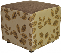 HomeTown Laurel Fabric Pouffe