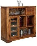 HomeTown Leopold Bar Cabinet In Walnut Finish