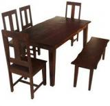HomeTown Vienna Six Seater Dining Set With Bench In Rosewood Finish