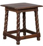 HomeTown Yang Solidwood Stool In Walnut Colour