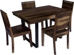 ed073ad8b65 Induscraft Arabia Metal Sheesham Solid Wood 4 Seater Dining Set ...