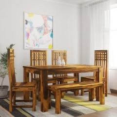 71c449b0600 Induscraft Ethina Sheesham Solid Wood 6 Seater Dining Set price in ...