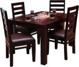 Induscraft Tadashi Solid Wood 4 Seater Dining Set