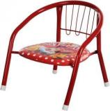 Iris Stacking Chair With Powder Coated Legs, 14 Inch Height Metal Chair