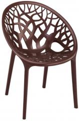 Nilkamal Crystal Weather Visitors Chair in Brown