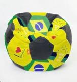 Orka XL Brazil Printed Football Bean Bag With Bean Filling
