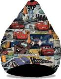 Orka XL Cars Comics Digital Printed Bean Bag With Bean Filling