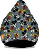 Orka XL Mickey Mouse Digital Printed Bean Bag With Bean Filling