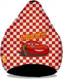 Orka XXL Cars McQueen Digital Printed Bean Bag With Bean Filling