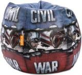 Orka XXL Marvel Civil War Digital Printed Bean Bag With Bean Filling