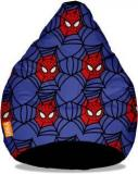 Orka XXL Spiderman Faces Digital Printed Bean Bag With Bean Filling