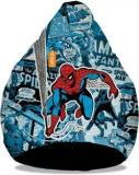 Orka XXXL Amazing Spiderman Digital Printed Bean Bag With Bean Filling