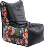 Orka XXXL Avengers Character Digital Printed Bean Bag Chair With Bean Filling