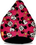 Orka XXXL Minnie Mouse Digital Printed Bean Bag With Bean Filling
