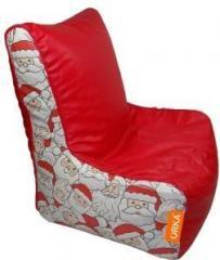 Astounding Orka Xxxl Santa Claus Digital Printed Bean Bag Chair With Machost Co Dining Chair Design Ideas Machostcouk