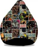 Orka XXXL Starwars Comics Digital Printed Bean Bag With Bean Filling