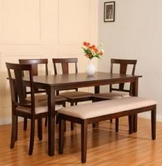 Surprising Perfect Homes By Flipkart Fraser 6 Seater With Bench Dining Set Home Interior And Landscaping Ologienasavecom