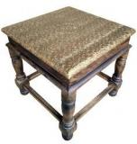 Saaga Multipurpose Small Table With Brass Work