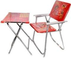 Sunshine Gifting Baby Multi Color Foldable Study Table And Chair Set Solid  Wood Desk Chair
