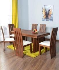 cc3f75be05 The Attic Delmonte Sheesham Solid Wood 6 Seater Dining Set price in ...