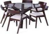 Urban Ladder Matheson Thomson Solid Wood 6 Seater Dining Set
